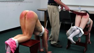 Real Spankings Institute - Kiki And Alice Spanked Together ( Part 2 Of 4) - image 9