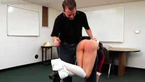 Real Spankings Institute - Kiki's Classroom Behavior Is Addressed By The Dean (part 1) - image 8