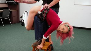 Real Spankings Institute - Kiki's Classroom Behavior Is Addressed By The Dean (part 1) - image 17
