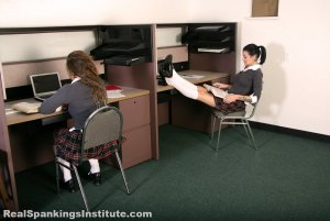 Real Spankings Institute - Maya And Rae: Punished By The Dean (part 1 Of 4) - image 5