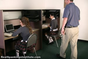 Real Spankings Institute - Maya And Rae: Punished By The Dean (part 1 Of 4) - image 1