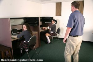 Real Spankings Institute - Maya And Rae: Punished By The Dean (part 1 Of 4) - image 9
