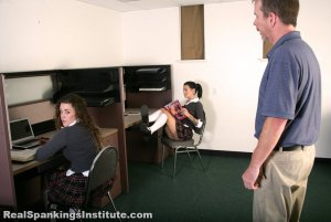 Real Spankings Institute - Maya And Rae: Punished By The Dean (part 1 Of 4) - image 13