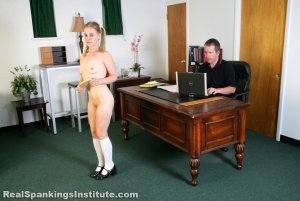 Real Spankings Institute - Stevie Is Punished By The Dean (part 1 Of 2) - image 8
