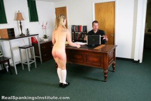 Real Spankings Institute - Stevie Is Punished By The Dean (part 1 Of 2) - image 4