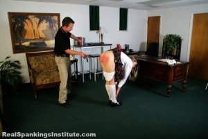 Real Spankings Institute - Monica Strapped By The Dean - image 1