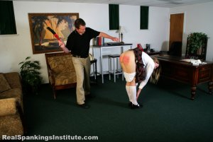 Real Spankings Institute - Monica Strapped By The Dean - image 2