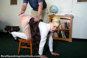 Real Spankings Institute - Stevie Is Punished By The Dean (part 1 Of 2) - image 1