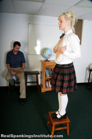 Real Spankings Institute - Stevie Is Punished By The Dean (part 1 Of 2) - image 11