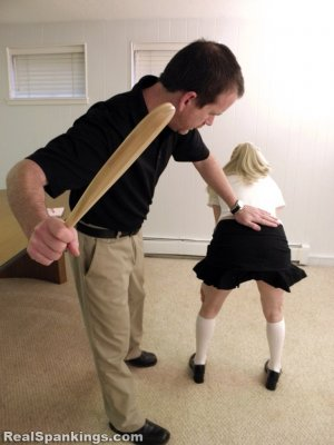 Real Spankings Institute - Allison Is Paddled By The Dean - image 6