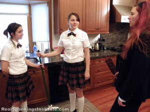 Real Spankings Institute - Abigail And Harlan Strapped For Fighting (part 1 Of 2) - image 12