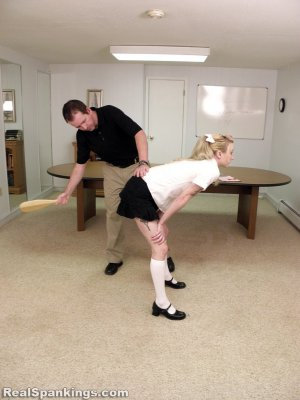 Real Spankings Institute - Allison Is Paddled By The Dean - image 12