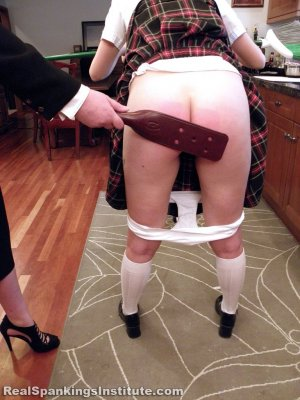 Real Spankings Institute - Abigail And Harlan Strapped For Fighting (part 1 Of 2) - image 9