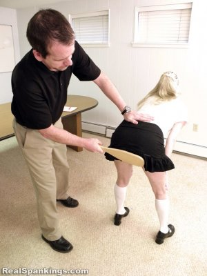 Real Spankings Institute - Allison Is Paddled By The Dean - image 7