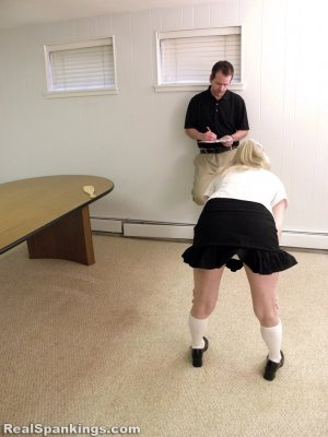 Real Spankings Institute - Allison Is Paddled By The Dean - image 10