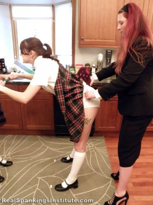 Real Spankings Institute - Abigail And Harlan Strapped For Fighting (part 1 Of 2) - image 14