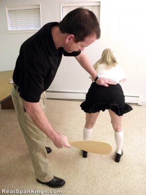 Real Spankings Institute - Allison Is Paddled By The Dean - image 9