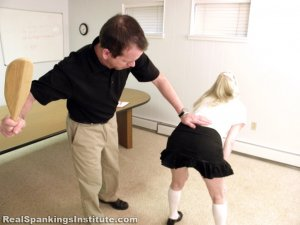 Real Spankings Institute - Allison Is Paddled By The Dean - image 13