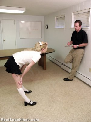 Real Spankings Institute - Allison Is Paddled By The Dean - image 16