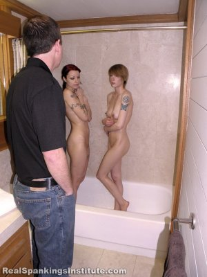Real Spankings Institute - Kajira And Lila Caught In The Shower Together (part 1 Of 2) - image 13