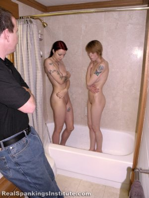 Real Spankings Institute - Kajira And Lila Caught In The Shower Together (part 1 Of 2) - image 18