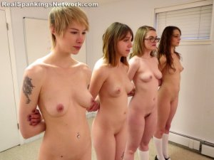 Real Spankings Institute - Four Girls Stripped, Quizzed And Strapped - image 15
