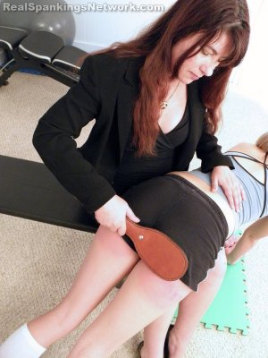 Real Spankings Institute - Monica Spanked By Miss Blake (part 1 Of 2) - image 9