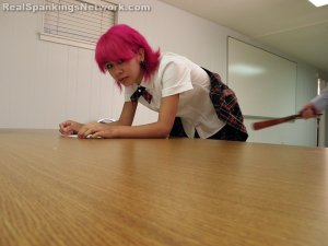 Real Spankings Institute - Kiki Punished In Study Hall (part 2 Of 2) - image 11