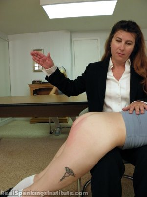 Real Spankings Institute - Abigail And Allison Spanked By Miss Blake(part 1 Of 2) - image 1