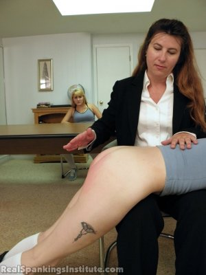 Real Spankings Institute - Abigail And Allison Spanked By Miss Blake(part 1 Of 2) - image 9
