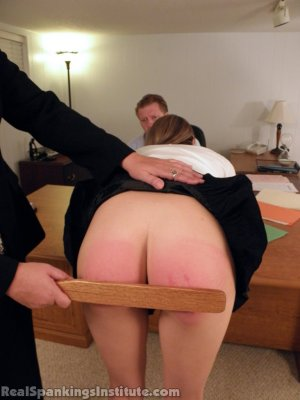 Real Spankings Institute - Monica Punished By Miss Blake And The Assistant Dean - image 2
