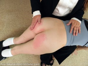 Real Spankings Institute - Abigail And Allison Spanked By Miss Blake(part 1 Of 2) - image 13