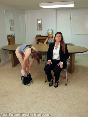 Real Spankings Institute - Abigail And Allison Spanked By Miss Blake(part 1 Of 2) - image 2