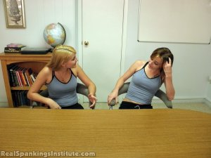 Real Spankings Institute - Abigail And Allison Spanked By Miss Blake(part 1 Of 2) - image 7