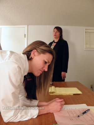 Real Spankings Institute - Monica Punished By Miss Blake And The Assistant Dean - image 14