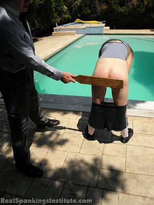 Real Spankings Institute - Roxie Paddled For Lying And Skipping Out On Gym - image 10