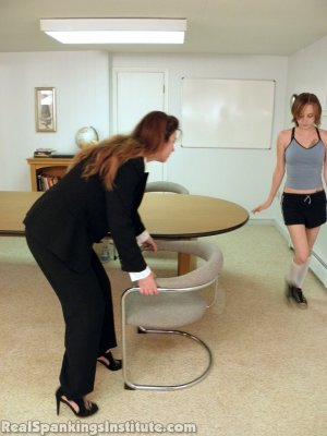 Real Spankings Institute - Abigail And Allison Spanked By Miss Blake(part 1 Of 2) - image 15