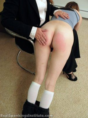 Real Spankings Institute - Abigail And Allison Spanked By Miss Blake(part 1 Of 2) - image 14