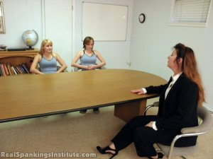 Real Spankings Institute - Abigail And Allison Spanked By Miss Blake(part 1 Of 2) - image 18