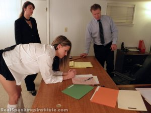 Real Spankings Institute - Monica Punished By Miss Blake And The Assistant Dean - image 18