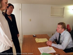 Real Spankings Institute - Monica Punished By Miss Blake And The Assistant Dean - image 1