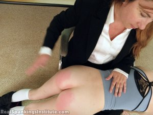 Real Spankings Institute - Abigail And Allison Spanked By Miss Blake(part 1 Of 2) - image 6
