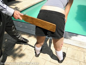 Real Spankings Institute - Roxie Paddled For Lying And Skipping Out On Gym - image 2