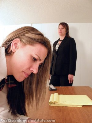 Real Spankings Institute - Monica Punished By Miss Blake And The Assistant Dean - image 12