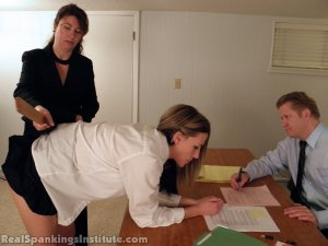 Real Spankings Institute - Monica Punished By Miss Blake And The Assistant Dean - image 15