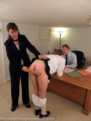 Real Spankings Institute - Monica Punished By Miss Blake And The Assistant Dean - image 9