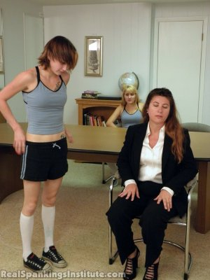 Real Spankings Institute - Abigail And Allison Spanked By Miss Blake(part 1 Of 2) - image 17