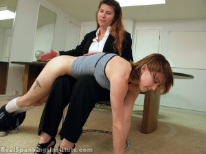 Real Spankings Institute - Abigail And Allison Spanked By Miss Blake(part 1 Of 2) - image 12