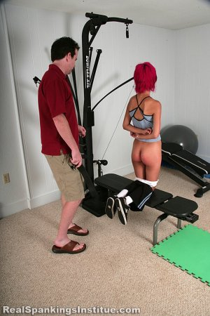 Real Spankings Institute - Kiki Punished In The Gym By The Dean (part 2 Of 2) - image 18