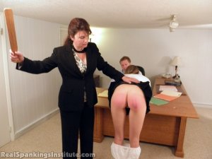 Real Spankings Institute - Monica Punished By Miss Blake And The Assistant Dean - image 17